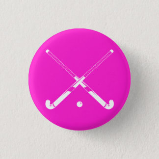 Pin's Rose de bouton de silhouette d'hockey de champ