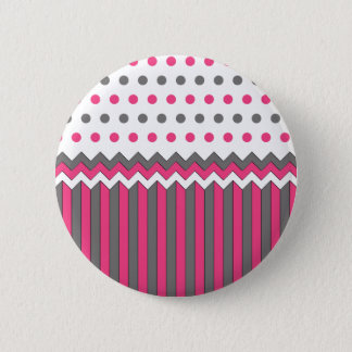 Pin's Rose et motif gris