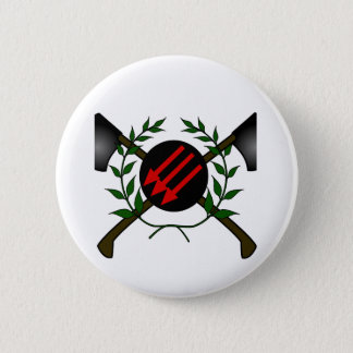 Pin's Rouge/anarchie communistes de tête de peau de