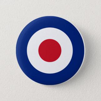 Pin's Rouge bleu et blanc de bouton de mod Pinback