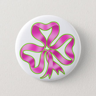 Pin's Ruban de shamrock de cancer du sein