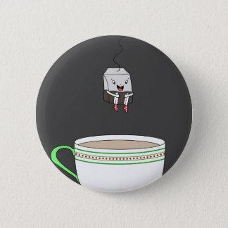 Pin's Sachet à thé sautant dans la tasse de thé