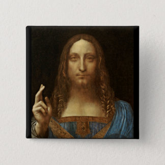 Pin's Salvator Mundi le Christ avec le monde dans sa