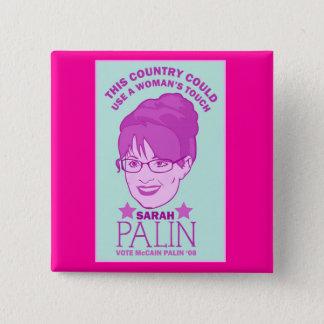 Pin's Sarah Palin, bouton du contact de la femme