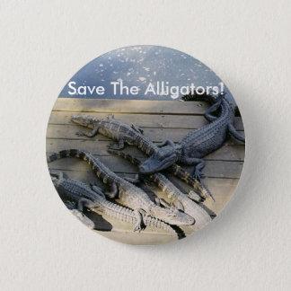 Pin's Sauvez les alligators ! Bouton