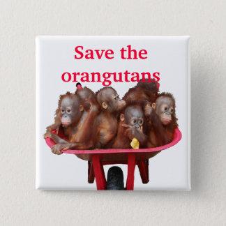 Pin's Sauvez les bébés mignons d'orangs-outans
