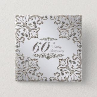 Pin's Scintillent le soixantième bouton d'anniversaire