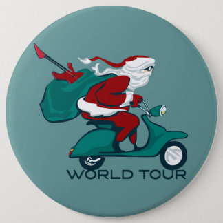 Pin's Scooter de tour du monde de Père Noël