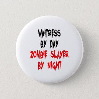 Pin's Serveuse de tueur de zombi