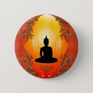 Pin's Silhouette de Bouddha avec la lumière rougeoyante