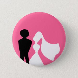 Pin's Silhouette de jeunes mariés épousant le Pin