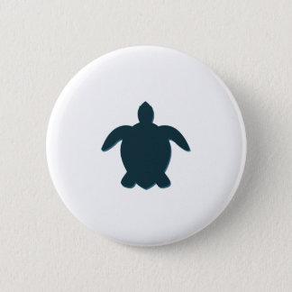 Pin's Silhouette de tortue de mer avec l'ombre