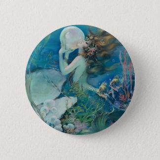 Pin's Sirène vintage tenant la perle
