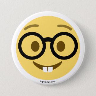 Pin's Smiley Emoji Nerd avec des lunettes et des dents