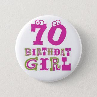 Pin's soixante-dixième Insigne de bouton de fille