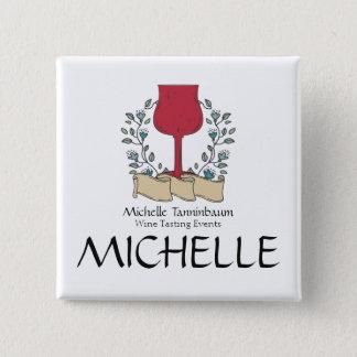 Pin's Sommelier d'échantillon de vin en verre de vin de