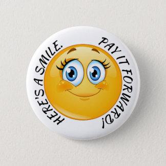 Pin's Soyez la raison bouton de quelques sourires