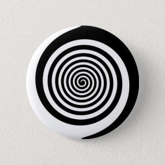Pin's Spirale hypnotique noire et blanche