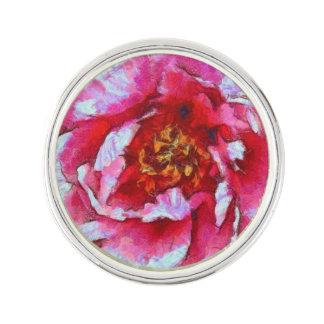 Pin's Style rose de Van Gogh de pivoine