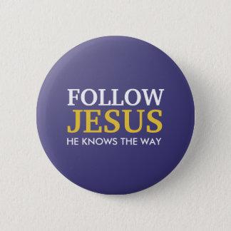 Pin's Suivez Jésus qu'il sait la manière
