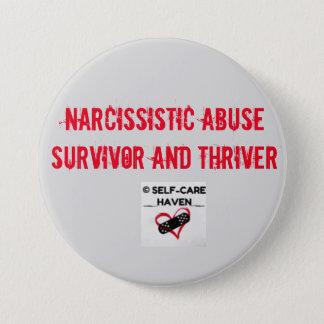 Pin's Survivant d'abus et bouton narcissiques de Thriver