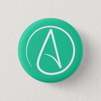 Pin's Symbole athée : blanc sur le vert en bon état