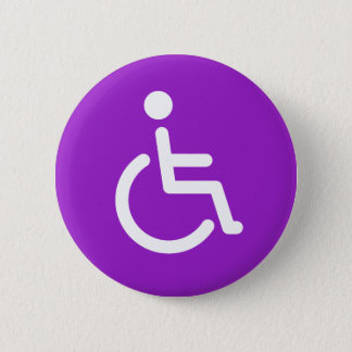 Pin's Symbole handicapé ou signe pourpre et blanc