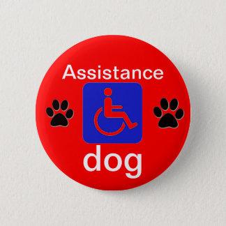 Pin's symbole handicapé par chien d'aide avec des pattes