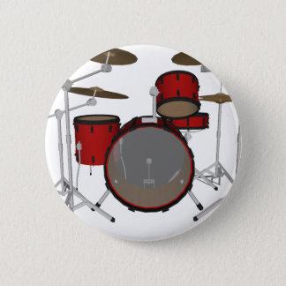 Pin's Tambours : Kit de tambour rouge : modèle 3D :