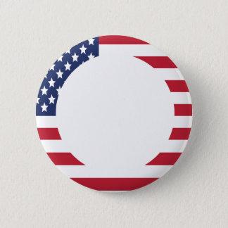 Pin's Texte de coutume de frontière de drapeau américain