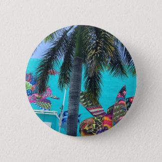 Pin's Tortue tropicale, paradis de palmier