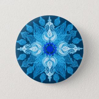Pin's Tournesol bleu de Paisley d'aqua