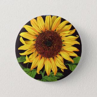 Pin's Tournesol vintage d'Orangedale d'art d'étiquette