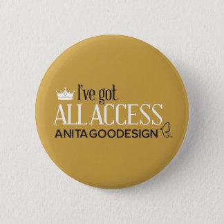 Pin's Tout le bouton de club d'accès (or)