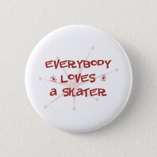 Pin's Tout le monde aime un patineur