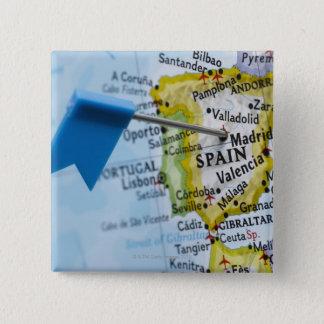 Pin's Tracez la goupille placée à Madrid, Espagne sur la