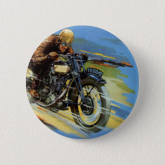 Pin's Transport vintage de voyage, emballant la moto
