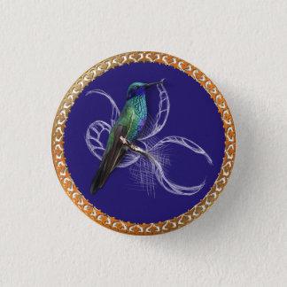 Pin's Turquoise verte et bleu avec le colibri pourpre