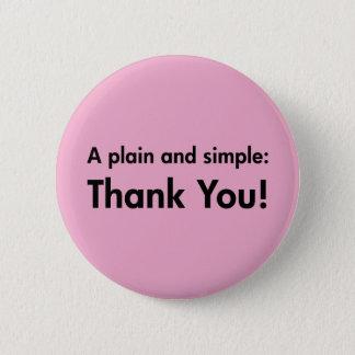 Pin's Un simple et simple : Merci !