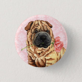 Pin's Valentine Shar-Pei rose