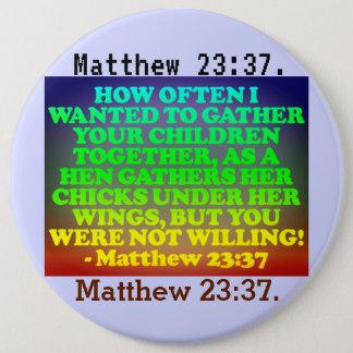 Pin's Vers de bible de 23h37 de Matthew.