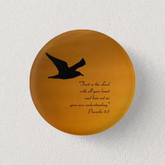 Pin's Vers jaune de bible de foi d'oiseau de ciel de