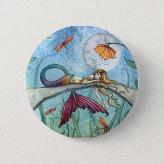 Pin's Vers le bas par l'art de sirène d'étang