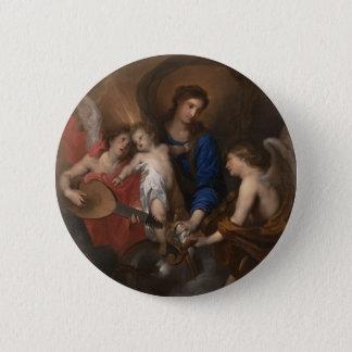 Pin's Vierge et enfant avec la musique faisant des anges