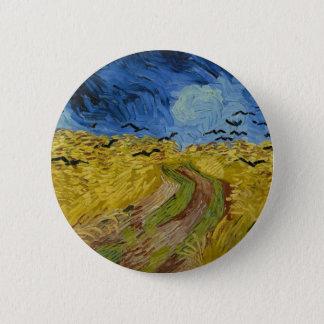 Pin's Vincent van Gogh - champ de blé avec la peinture