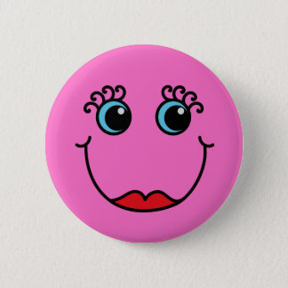 Pin's Visage de Madame rose smiley