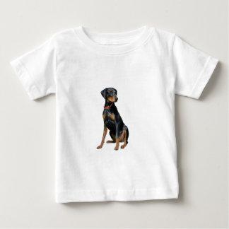 Pinscher de dobermann (naturel) t-shirt pour bébé
