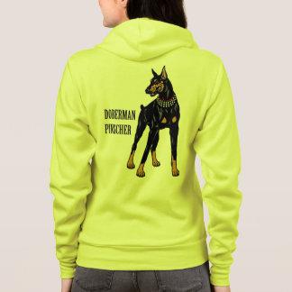 pinscher de dobermann veste à capuche