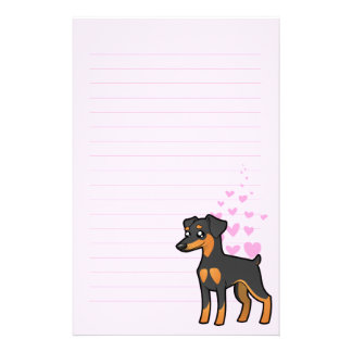 Pinscher miniature/amour de Manchester Terrier Papier À Lettre Customisable