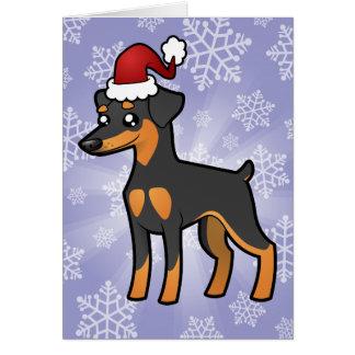 Pinscher miniature de Noël/Manchester Terrier Carte De Vœux
